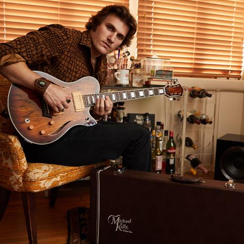 George Pennington and his MK Hybrid guitar