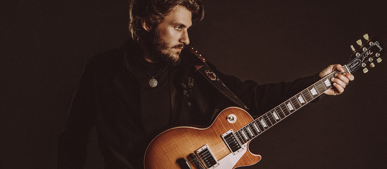 George Pennington with his Les Paul